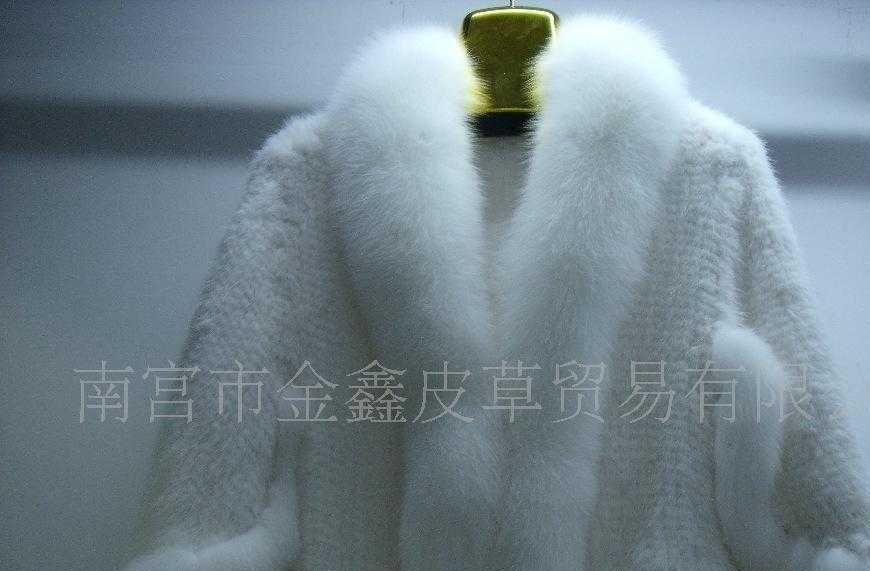 超低价订做貂毛编制围巾披肩服装
