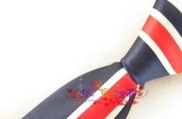 藏青底国旗十字架 直销 韩版休闲团队活动外贸窄领带