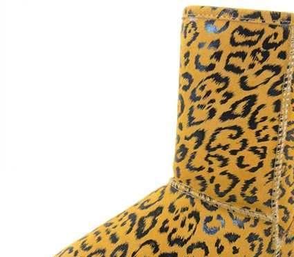 兰牧皮草 工厂批发TPR户外防滑雪地靴真皮时沿女鞋皮毛一体靴608
