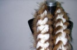 供应裘皮围巾狐狸毛围巾 貂毛围巾兔毛条0.5