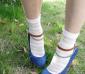 AULA AILA复古透明 粉色 玻璃丝荷叶边 条纹 新万博manbetx官网登录丝袜 水晶短丝袜