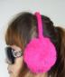 韩版可调节4 面兔毛皮草儿童耳套,大人也可带,糖果色!