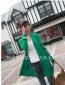 超人气爆款淑女气质韩版 全棉口袋长款开衫披肩毛衣