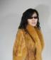 新款韩版貂皮编织狐狸毛领皮草外套,皮草披肩!